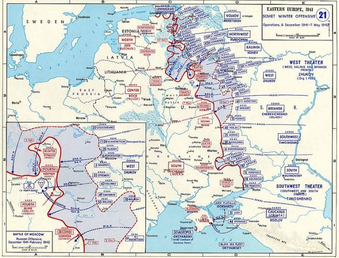 Map of Soviet counter-offensive