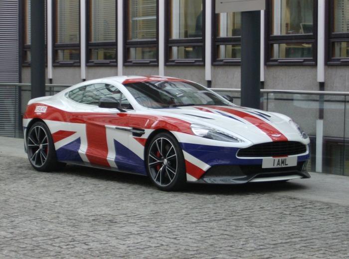 Patriotic Aston Martin
