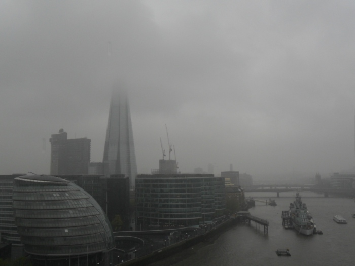 Rain over the Thames