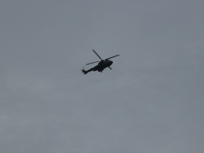 Military Chopper over the Thames
