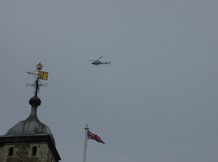 News Chopper over the Tower