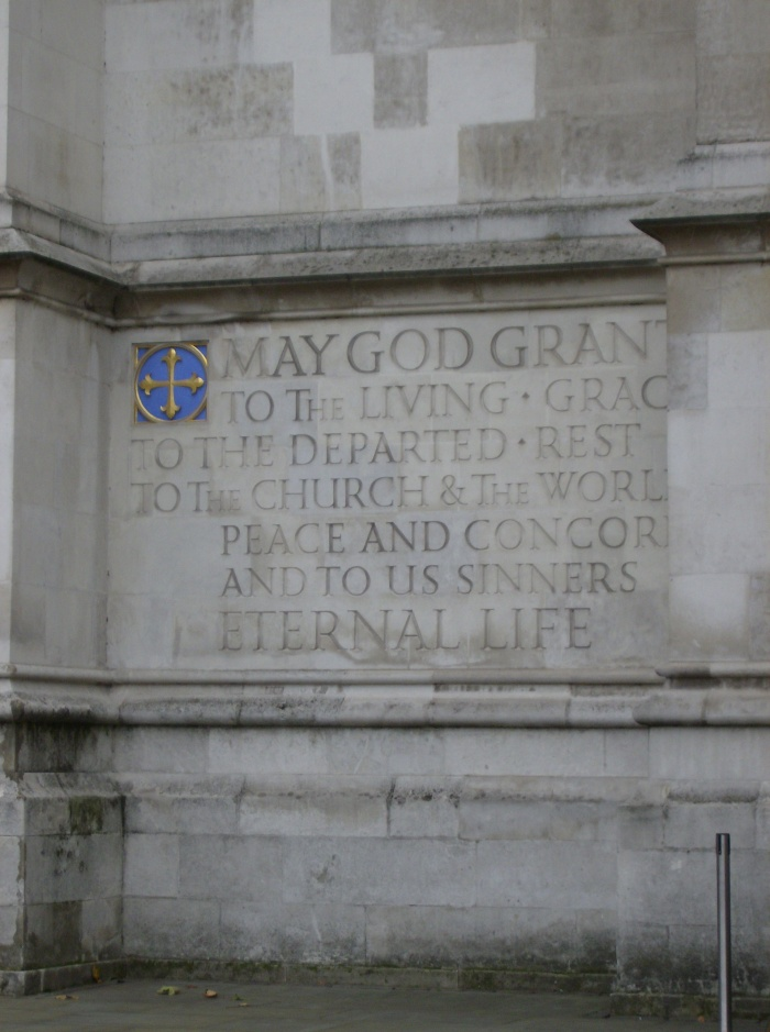 Westminster Exterior Engraving