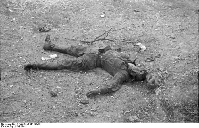 Dead Russian Soldier in Romania
