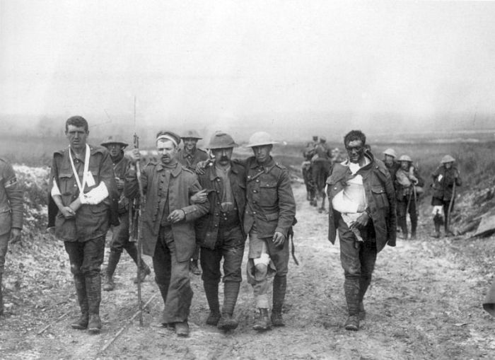 Wounded Brits Somme