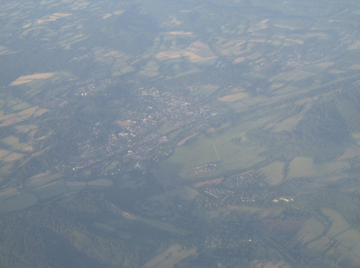 Aerial of English Fields