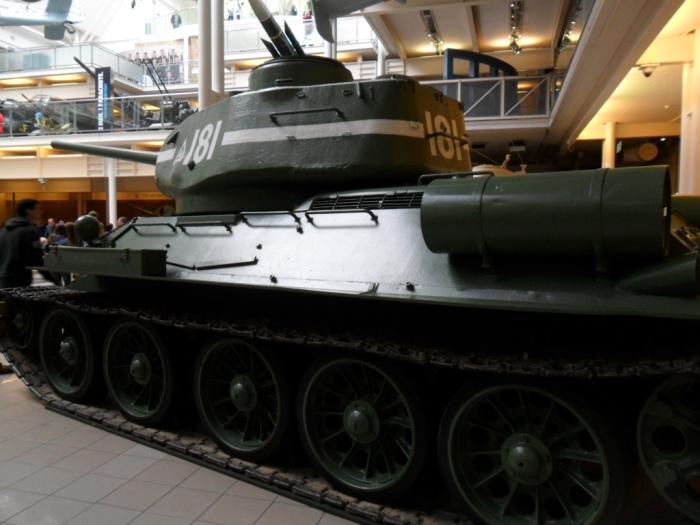 IWM London T-34 side