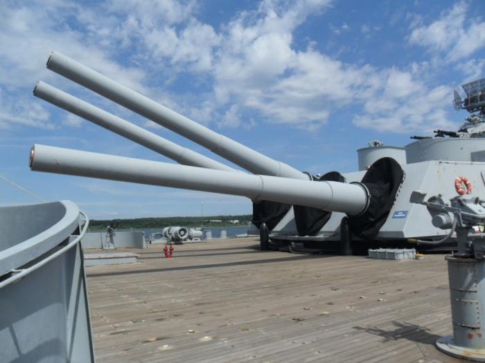 USS Mass Rear Guns