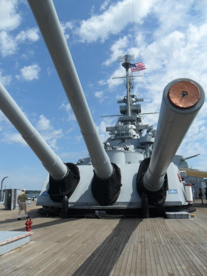 USS Mass Guns