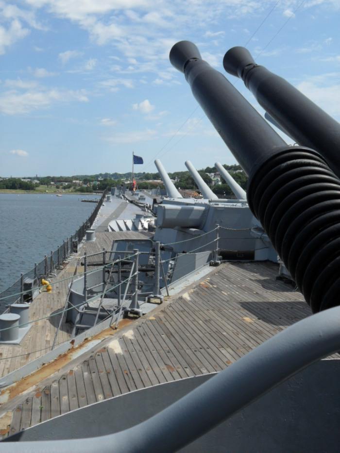 USS Mass Bow