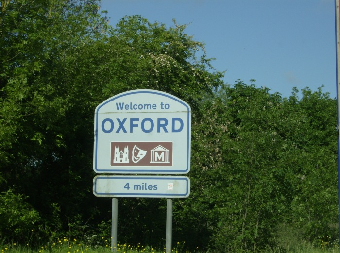 Oxford City Sign