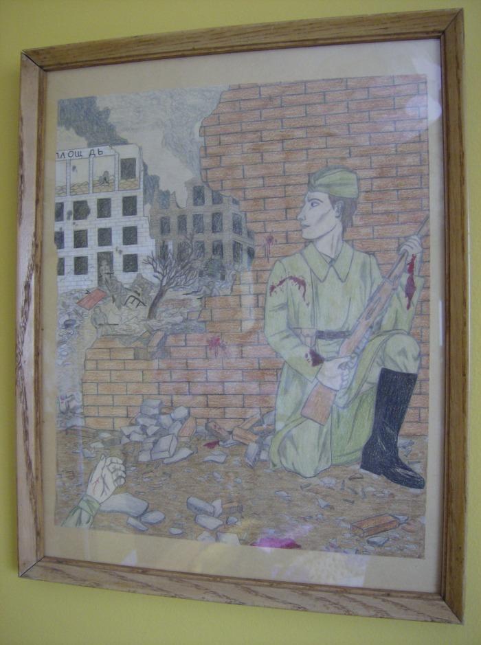 WWII Stalingrad drawing