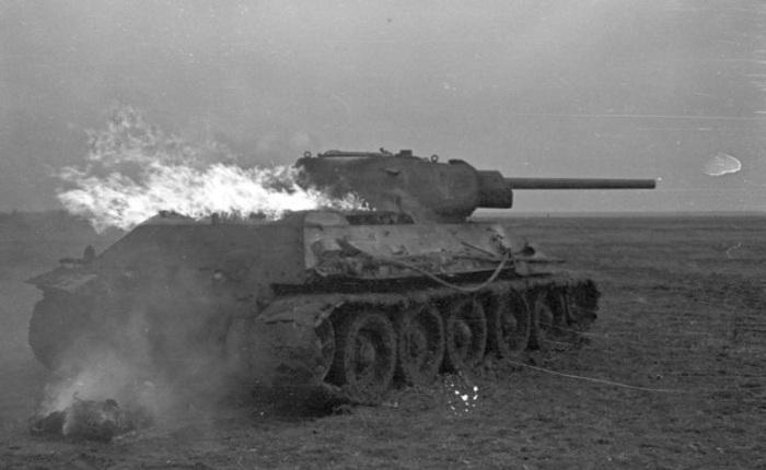 Burning T-34