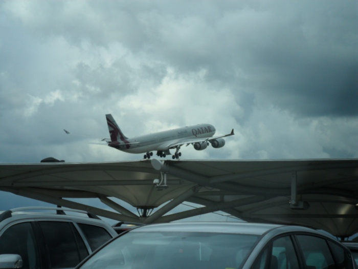 Qatar A340 LHR