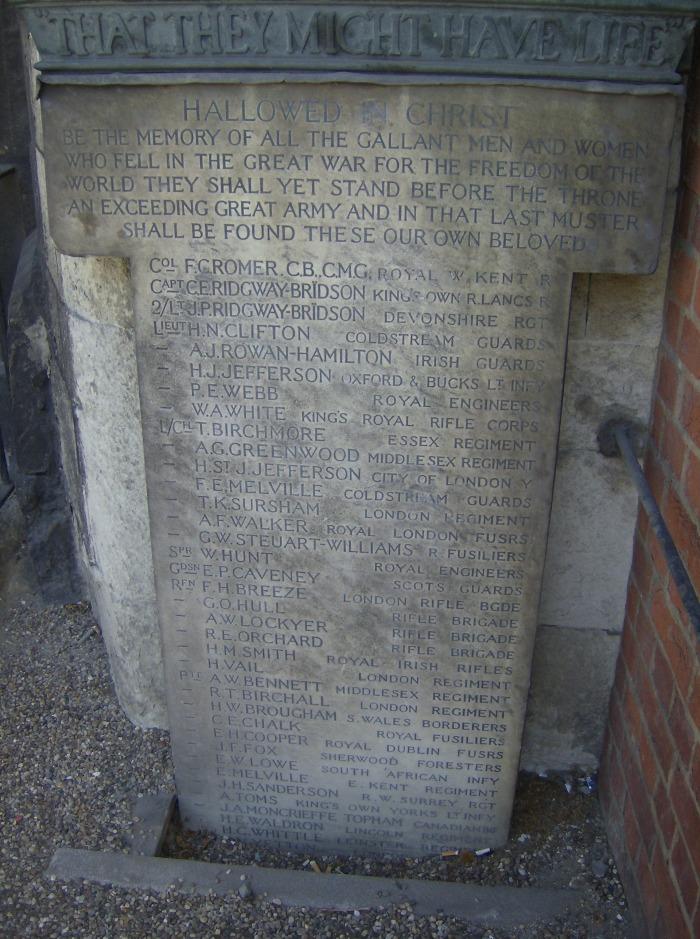 St Bart's Memorial