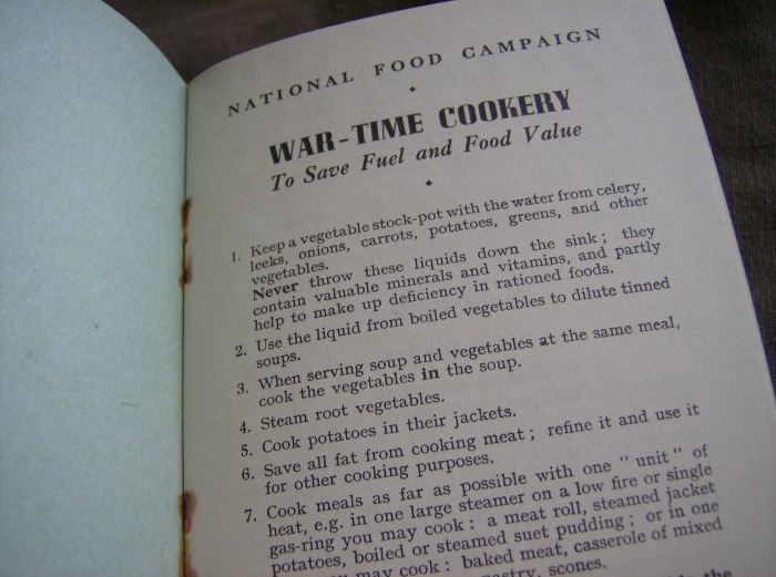 Wartime cookbook
